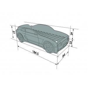Auto-Voodi MG 3D Punane Auto-voodid